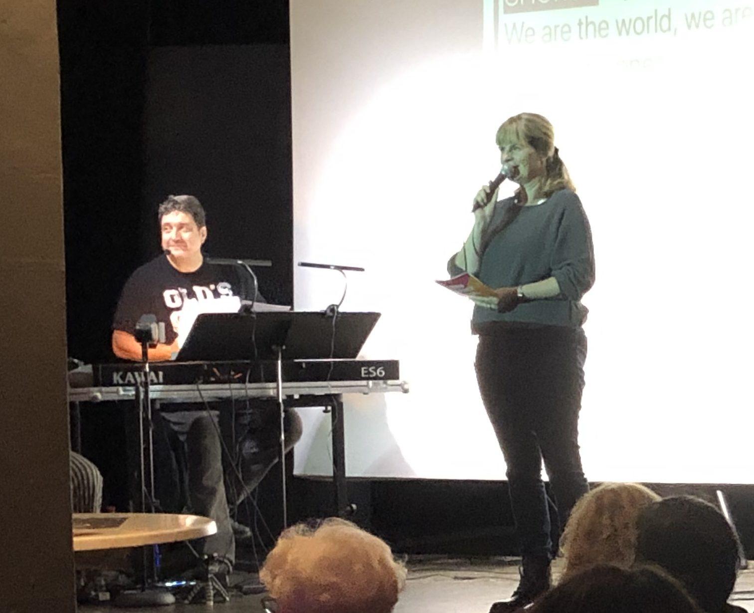 Stefanie Czaja und Klaus Breuninger beim ersten Singvergnügen Okt. 2019